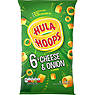 Hula Hoops Cheese & Onion Flavour Potato Rings 6 x 24g