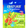 Crazy Jack Organic Fruit Fingers 120g Strawberry