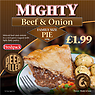 Freshpack Mighty Beef & Onion Pie Family Size 650g
