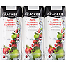 The Cracker Drinks Co Apple, Strawberry & Cranberry Fruit Juice Drink 3 x 250ml