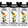 Cracker Drinks Co Crushed Light & Smooth Pineapple, Guava & Lime Juice Drink 3 x 250ml