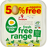 Golden Irish Fresh Free Range 9 Medium Eggs
