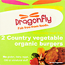Dragonfly 2 Country Vegetable Organic Burgers 200g