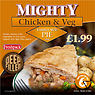 Freshpack Mighty Chicken & Veg Pie Family Size 650g
