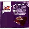The Fabulous Bakin' Boys 12 Triple Choccy Mini Cupcakes 120g