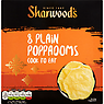 Sharwood's Cook to Eat Plain Poppadoms x8