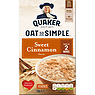 Quaker Oat So Simple Sweet Cinnamon Porridge Sachets 10x33g