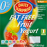 Daily Surprise Fat Free Fruit Yogurt Variety Pack 4 x 125g Strawberry