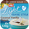 Muller Light Greek Style Coconut Yogurt 4 x 120g