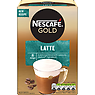 NESCAFE GOLD Latte Coffee, 8 Sachets x 19.5g